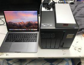 ATTO Thunderlink10GbE環境でQNAPとMacPCを接続